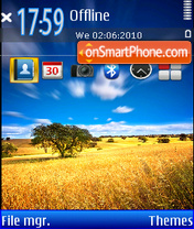 Blue Yellow Theme-Screenshot