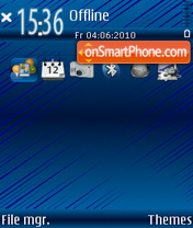 Blue in theme screenshot