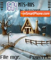 Animated Snowfall es el tema de pantalla