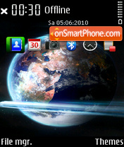 Earth 87 tema screenshot