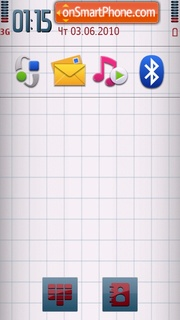 White Nokia tema screenshot