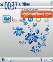 Blue Flowers 02 theme screenshot