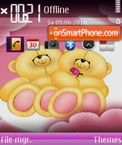 Love Cartoon es el tema de pantalla