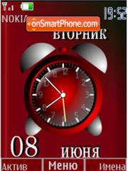 Скриншот темы Alarm clock and date