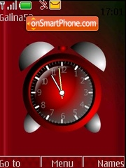 Alarm clock theme screenshot