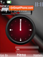 Batery Clock theme screenshot
