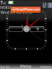 Black Clock theme screenshot