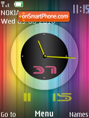 Dual Clock theme screenshot
