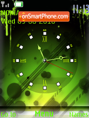 Green Clock es el tema de pantalla