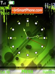 Скриншот темы Green Clock