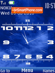 TV Clock theme screenshot