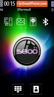 5800 Xm theme screenshot