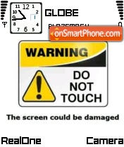 Do Not Touch 01 theme screenshot