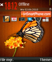 Butterfly 16 theme screenshot