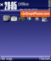 Dark blue 02 tema screenshot