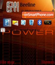 Power theme screenshot