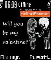 Valentine es el tema de pantalla