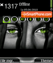 Green Eyes 01 theme screenshot