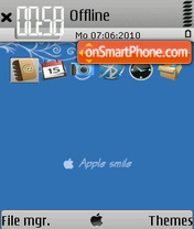 Apple smile theme screenshot