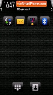 Black brick pearl theme screenshot