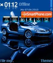 Скриншот темы Mercedes Benz SLR 02