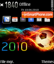2010 worldcup theme screenshot