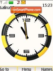 Beeline analog clock theme screenshot