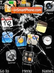 iphone cracked es el tema de pantalla