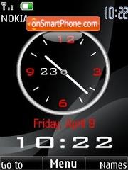 Black analogo clock theme screenshot