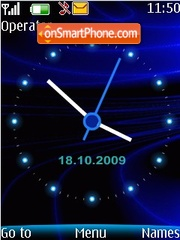 Blue clock 3 theme screenshot