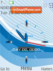 Waves clock es el tema de pantalla