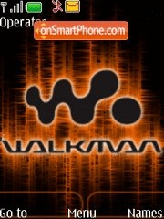 Animated walkman theme screenshot