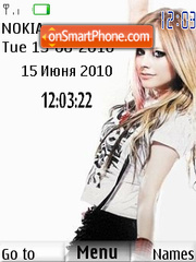 Avril Lavigne Clock theme screenshot