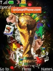 Fifa World cup 2010 tema screenshot