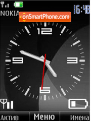 Analog clock $ indikator theme screenshot