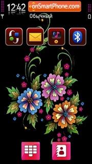 Cvetochnaya theme screenshot