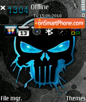 Blue skull by Altvic theme screenshot