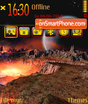 Outer Space 02 theme screenshot
