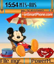 Mickey Relax theme screenshot