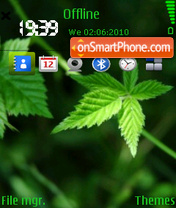Leaf green theme screenshot