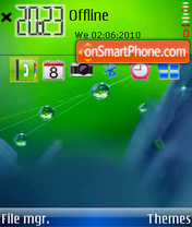 Green marbles theme screenshot