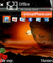 Sunset 08 tema screenshot