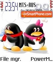 Cute Penguins theme screenshot