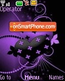 Purple and black heart tema screenshot