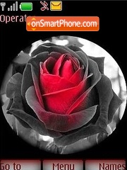 Gothic style a rose theme screenshot
