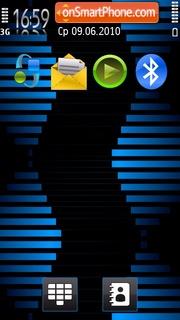 Blue Stripes 5800 tema screenshot