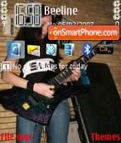 Iran Rock Girl theme screenshot