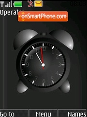 Alarm clock black theme screenshot