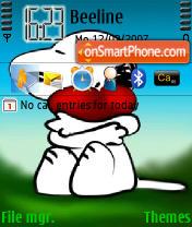 Snoopy Love theme screenshot