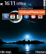 Silent Sky 01 theme screenshot